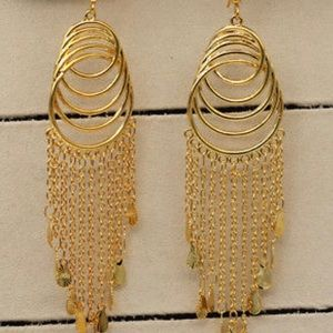 Jewelry - 18GF 4.3 in MULTIPLE LAYERS SWIRLS EARRINGS